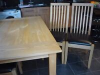 large table and 5 chairs very good condition from smoke free home early viewing advised