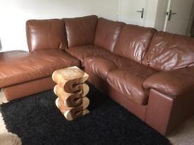 Cargo leather corner sofa