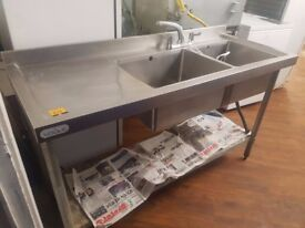 Commercial double sink delivery available Commercial double sink delivery available