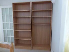 Bookshelves. Two bookshelves