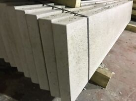 Smooth concrete base panels, gravel boards