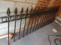 Length of cast-iron railing (eight and a half feet)