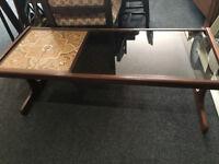 Stunning Vintage Retro Glass and Tile Teak G Plan Coffee Table