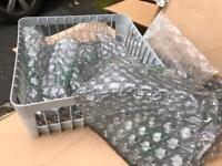 Glass washer rack basket