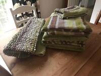 Green NEXT towel and bathmat bundle
