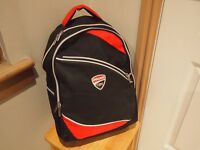 Ducati Backpack Black and red,with Ducati logo