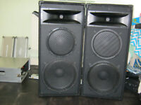 Pair of 3-way speaker cabs for DISCO DJ PARTY 15'' & 12'' eminence speakers