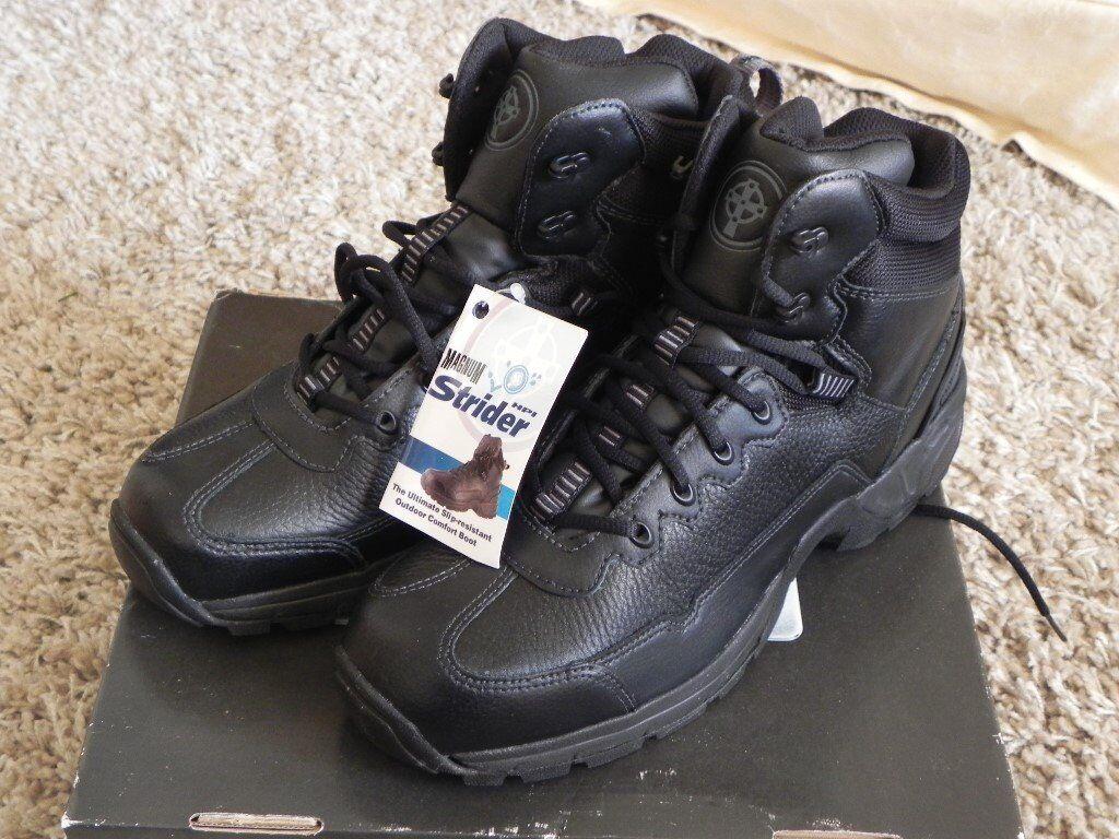 Magnum Strider black boots size 10