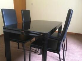 Executive, Modern Glass Top Table Up to 8 seats.