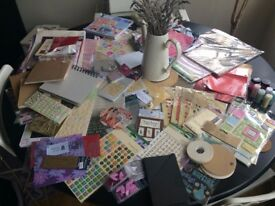 Fantastic Collection of Used and Unused Crafting Supplies at Bargain Price - Stamps, Paper and More