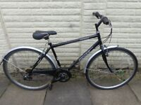 mens 20in hawk hybrid bike, lock, very good condition ready to ride FREE DELIVERY