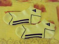 Unisex Adidas Sports Running Cushioned Ankle Socks. Purple. Size 3-9