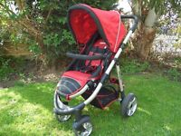 *** RED AND BLACK PUSHCHAIR ***