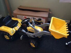 Dolu Kid's Children Ride On Yellow Digger With Shovel Loader rrp £69.99