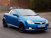 2005 55 REG VAUXHALL TIGRA CONVERTIBLE.1.4 SPORTS.72K GENUINE LOW MILES.LONG MOT TAXED GREAT RUNNER
