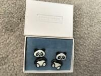 New and boxed pair of Essential panda earrings