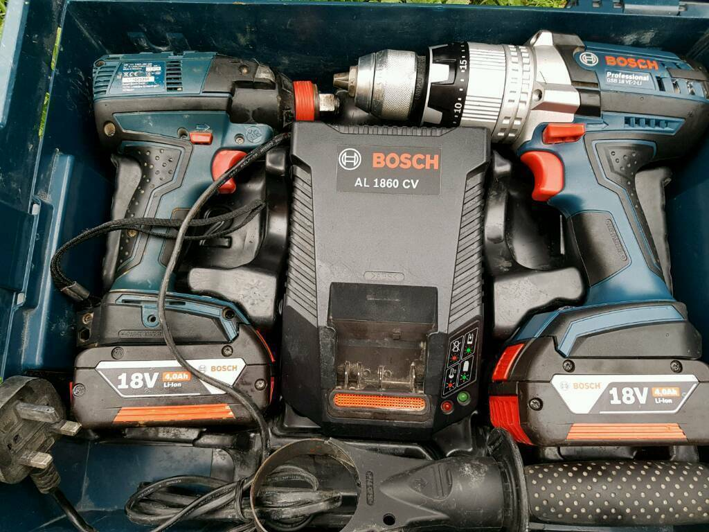 BOSCH GSB18V ECGDX18V ECN POWER TOOL KIT 2 18V 4AH COOLPACK BATTERIES L BOXXin Enfield, LondonGumtree - Bosch GSB18V EC GDX18V ECN Combi Drill plus Impact Driver full brushless technology powered by 2 x 18v x 4Ah CoolPack Batteries, fast lithium charger and packed in a tough Bosch L Boxx Bosch GSB18V EC Combi Drills are highly efficient 18v brushless...