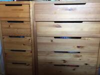Solid wood drawers for sale x 2