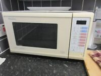Panasonic Microwave with grill - good size with turntable.