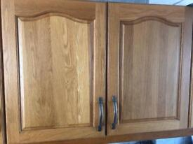 Solid wood kitchen cabinet, doors, drawers - items from £10 and offers welcome