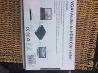 VGA +Audio to HDMI Converter