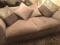 A crushed velvet sofa 2 Seater and 3 Seater