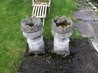Matching grey crown chimney pots
