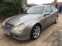 Silver Mercedes c180 Petrol 1.8l manual six gear speed, leather interior,