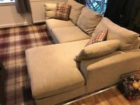 EX DISPLAY DFS BEIGE CORNER SOFA SET DELIVERY FREEE