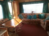 6 berth 2 bed caravan for hire in tywyn mid wales on neptune site.pets welcome small club on site.