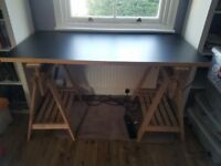 Ikea trestle table desk