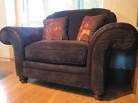 Brown Sofology Love Chair Pristine Condition DELIVERY