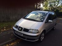 Seat Alhambra turbo diesel 6 speed 7 seater 54 reg