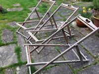 3 Traditional wooden deck chair frames