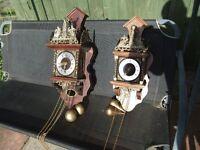 2 ANTIQUE DUTCH WALL CLOCKS.