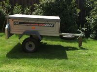 Camping trailer erde 122 with Spare wheel and cover