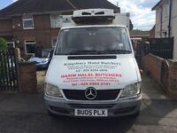 Mercedes sprinter box&fridge van for sale