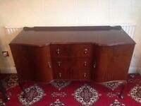 Vintage 'Queen Anne Style' Mahogany Sideboard with 2 Cupboards & 3 Drawers