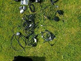 Various phone chargers and cables