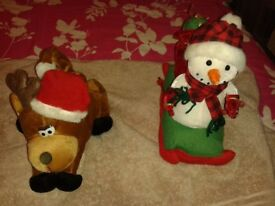 Free 2 musical xmas teds & 4 New decorations.