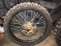 """Ktm sx wheels talon carbon hubs 21""""19"""" exc excf"""