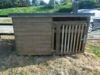 WOODEN DOG BOX , KENNEL , HOUSE