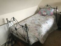Victorian metal bed frame