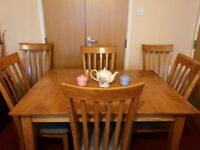 Solid Wood Extendable Table & Dining Set