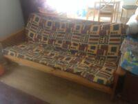 Solid wood futon sofa