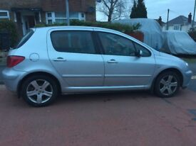 2003 Peugeot 307 1.6l Petrol. 72,400miles No known mechanical faults but some bodywork issues