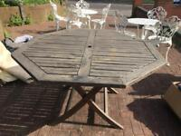 Wooden garden table & chairs