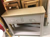 New grey and oak hall table sale