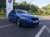 BMW 320d 2013 M SPORT SATNAV AUTO INDIVIDUAL LCI PERFORMANCE ESTORIL BLUE RARE E92 E93 325 330 120