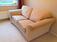 Beige 2 seater sofabed